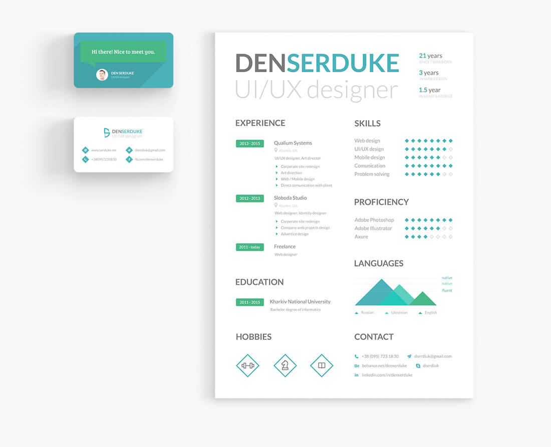 Freelance Resume  User Experience Designer Resume
