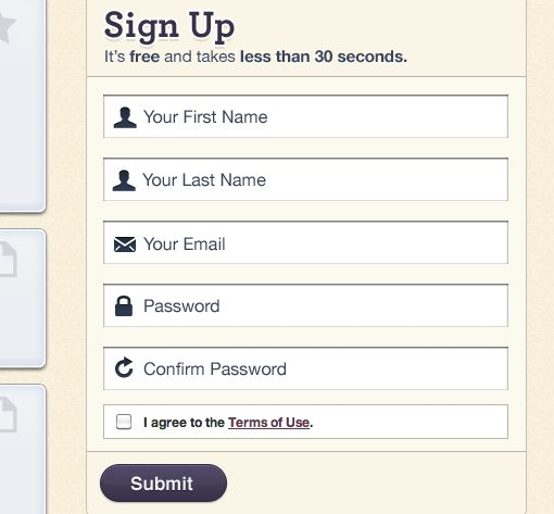 20 Great Sign Up Form Examples to Learn From | Design Shack