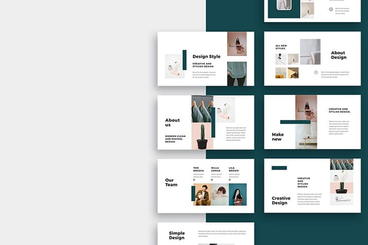 20  simple powerpoint templates  with clutter