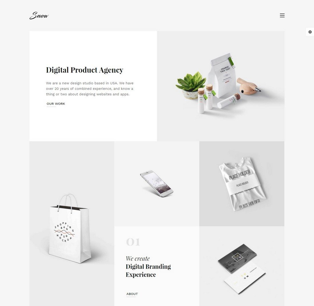 Minimal Bootstrap Templates Design Shack - Digital portfolio template