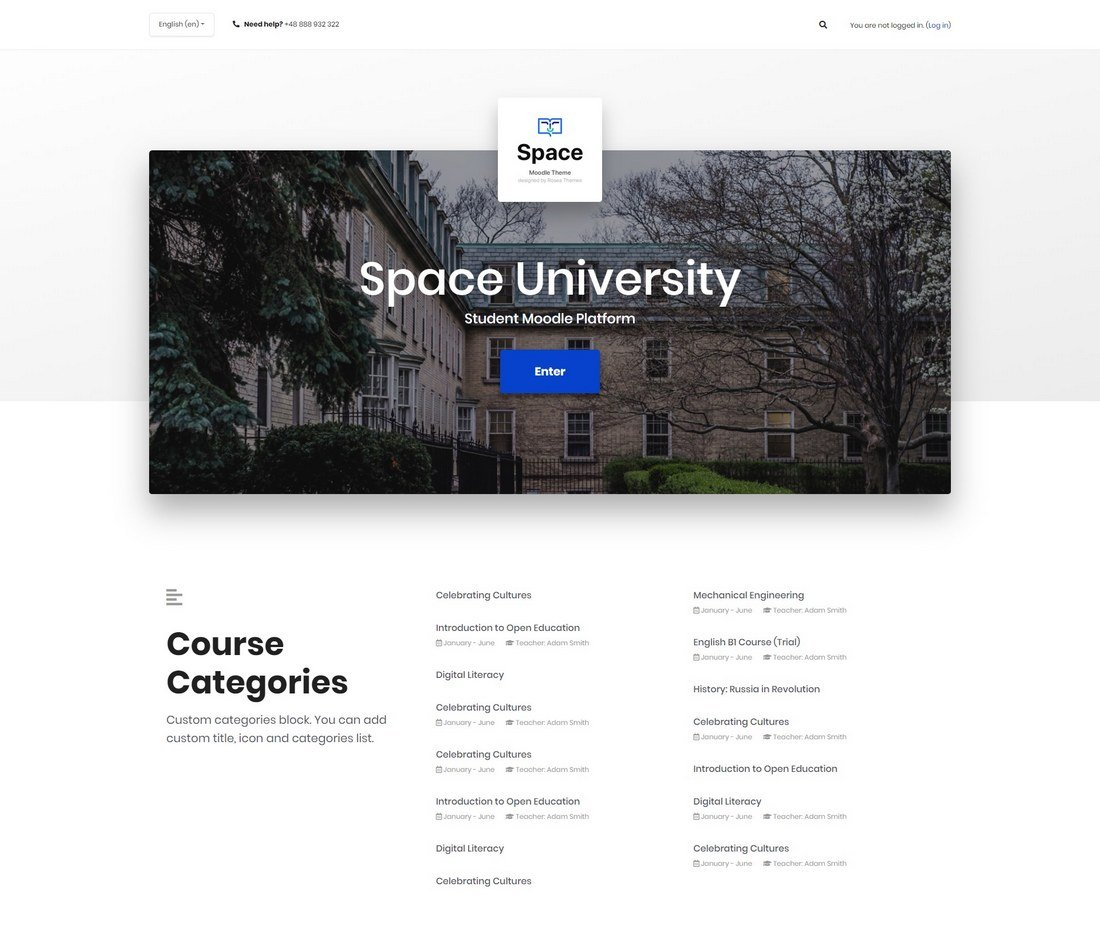 space-moodle-theme 15+ Best Moodle Themes of 2019 design tips