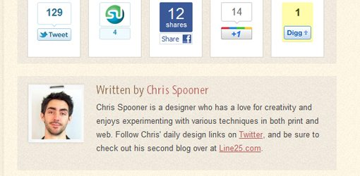 Chris Spooner SpoonGraphics Author Box