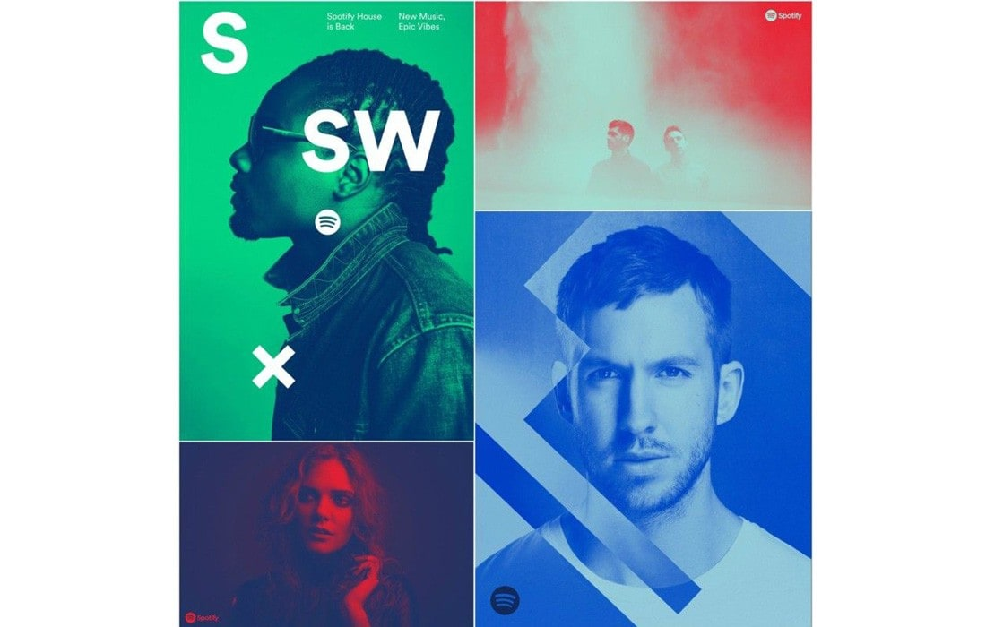 spotify-duotone-ads-2 7 New & Modern Color Trends 2021 design tips