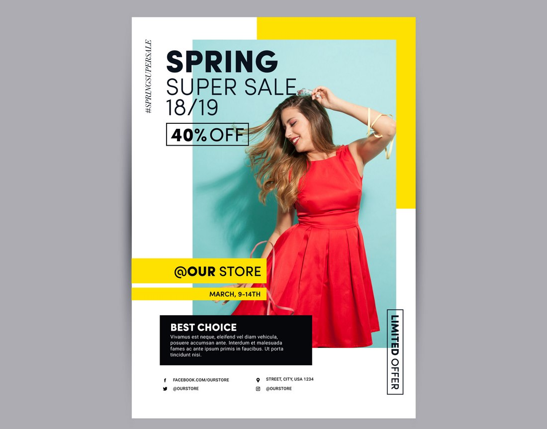 spring-sale-poster-template 20+ Best Free Poster Templates (Illustrator & Photoshop) 2020 design tips  Inspiration