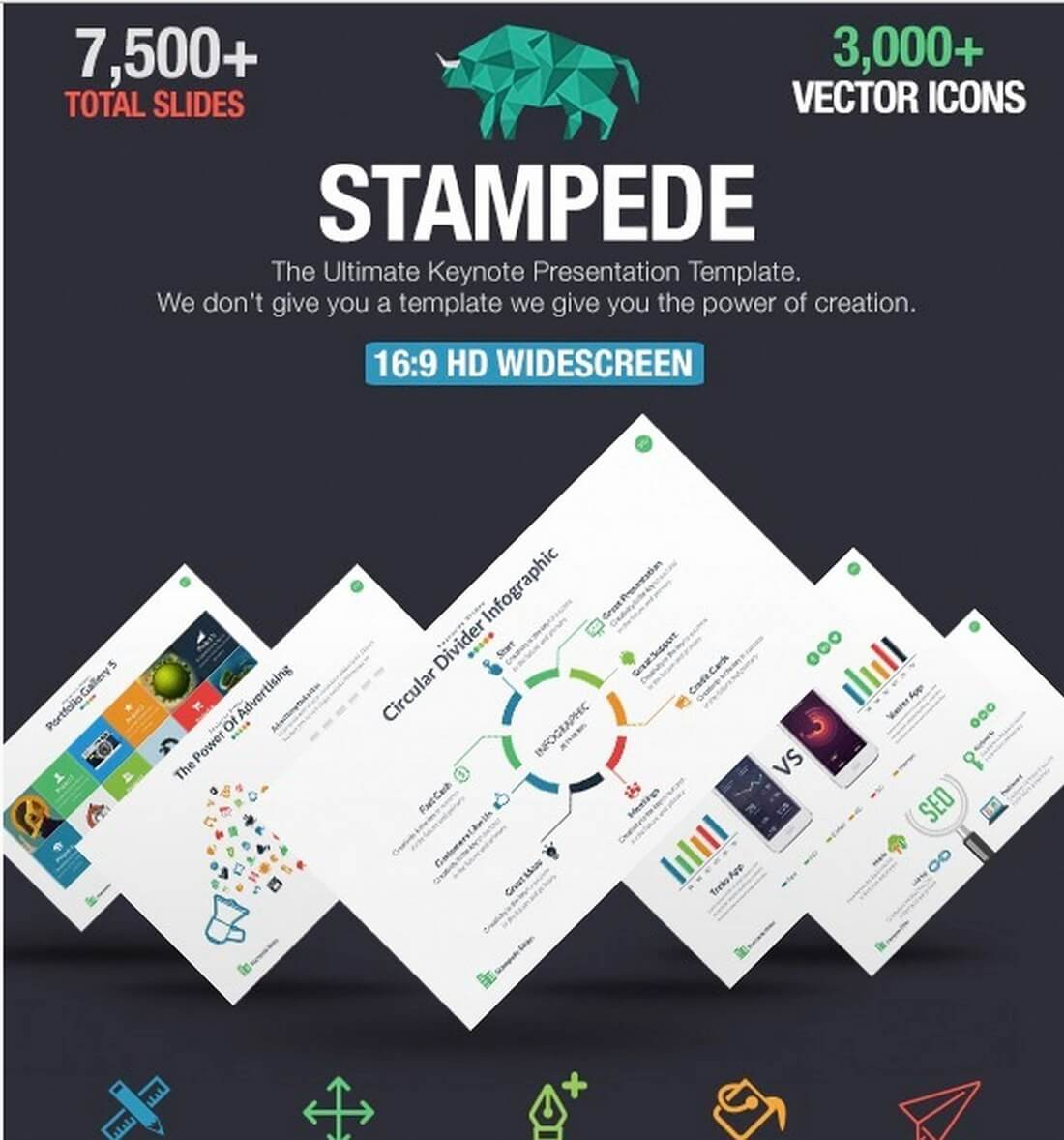 stampede 30+ Best Keynote Templates of 2018 design tips