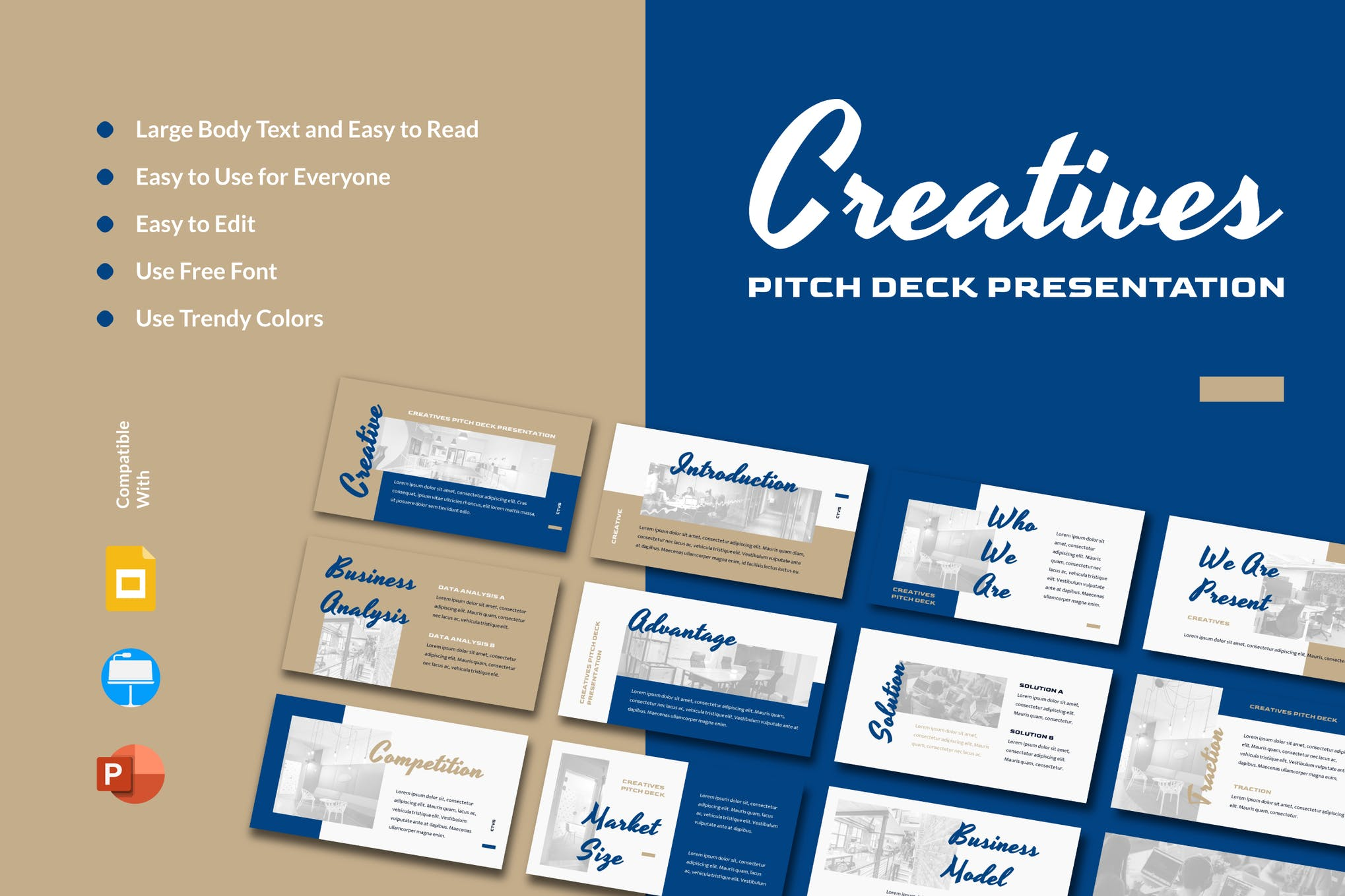 startup pitch deck template
