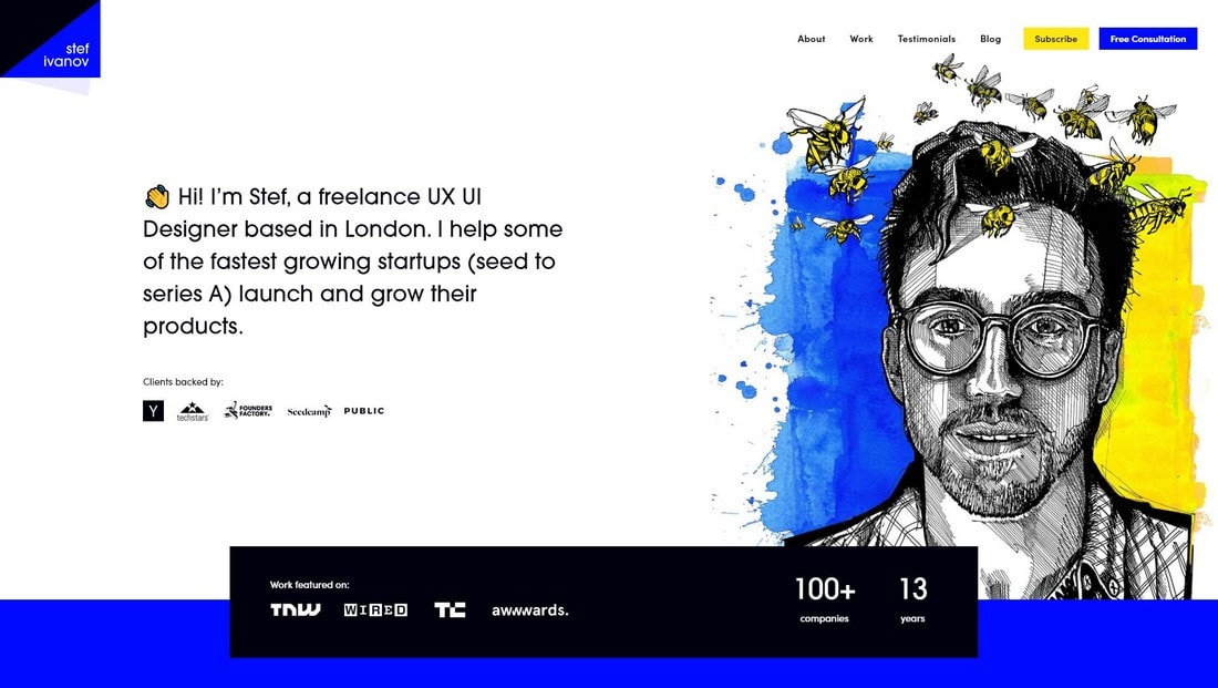 stefivanov 15+ Creative Website Header Design Examples + Tips design tips  Layouts