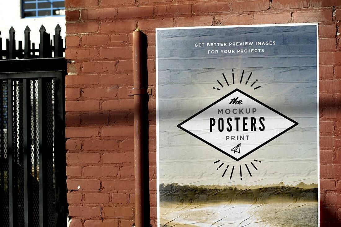 30+ Best Poster Mockup Templates : Design Shack