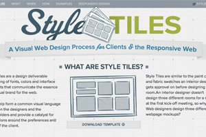 Style Tiles: The Flip Side of Wireframes