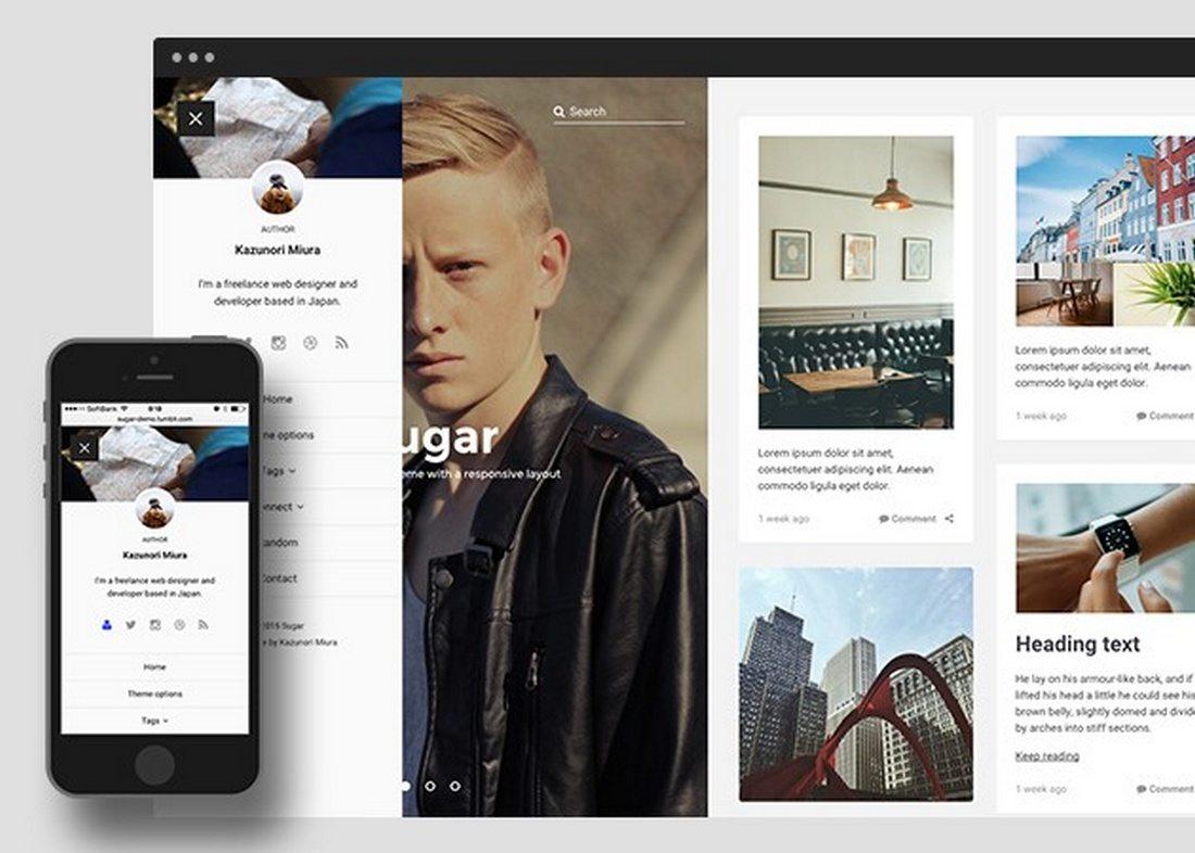 sugar-1 50+ Best Free & Premium Tumblr Themes 2018 design tips