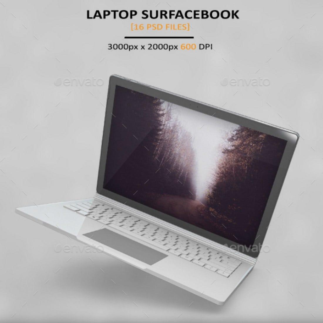 surfacebook mockup