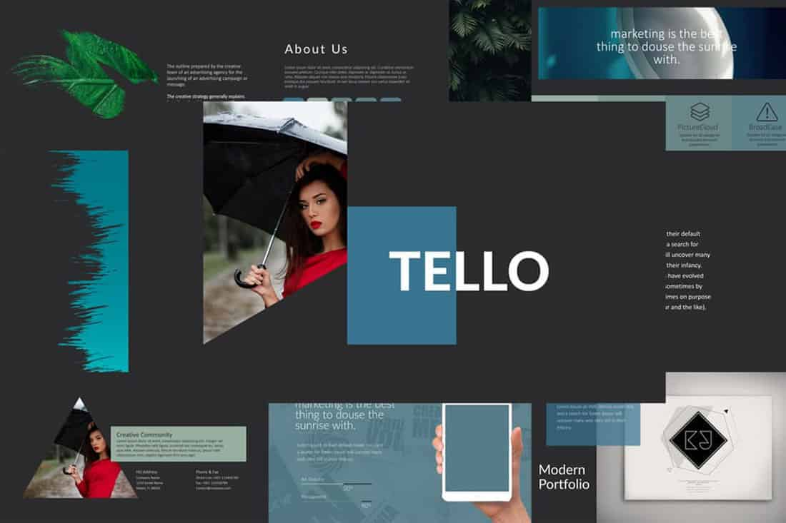 tello 20 Stylish PowerPoint Color Schemes design tips