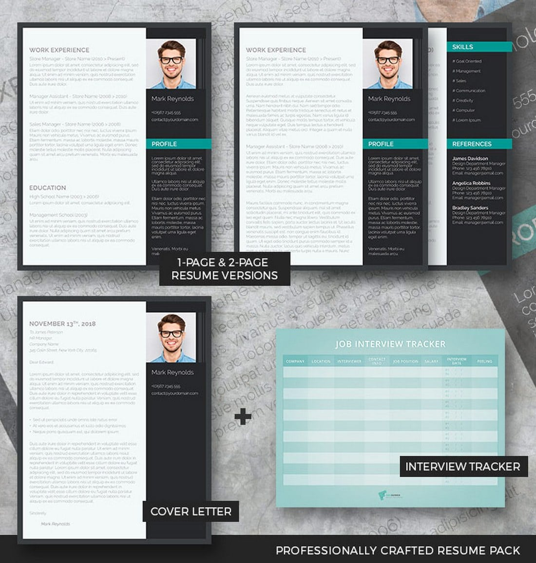 the-modern-professional-resume-pack Freesumes: Free Resumes, Beautifully Designed design tips