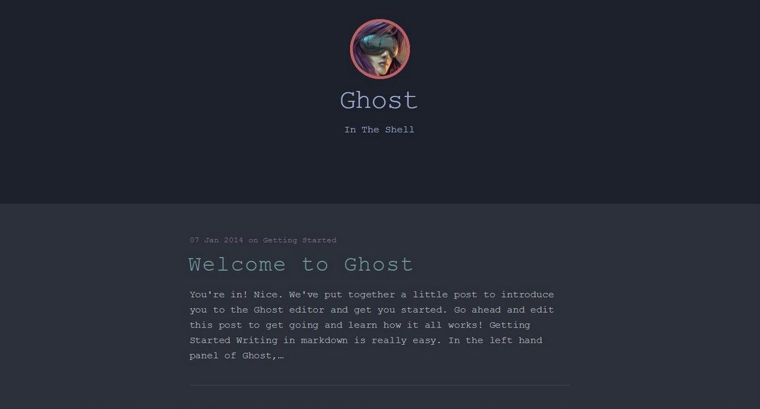 30 Beautifully Designed Ghost Themes 12