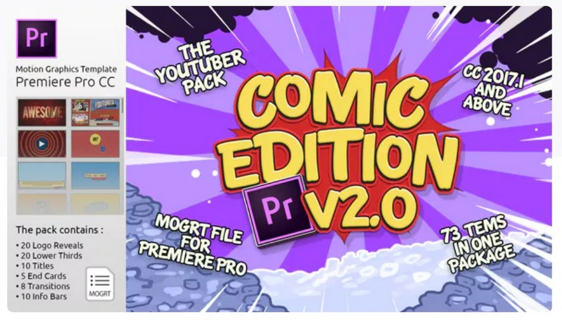the-youtuber-pack-premiere-pro-template 30+ Best Premiere Pro Templates 2019 design tips
