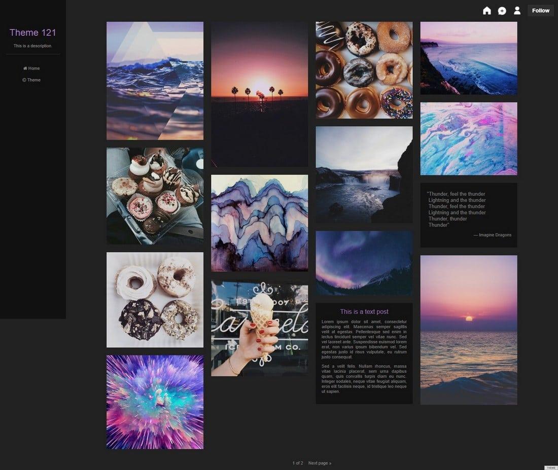 theme121-tumblr-theme 50+ Best Free & Premium Tumblr Themes 2018 design tips