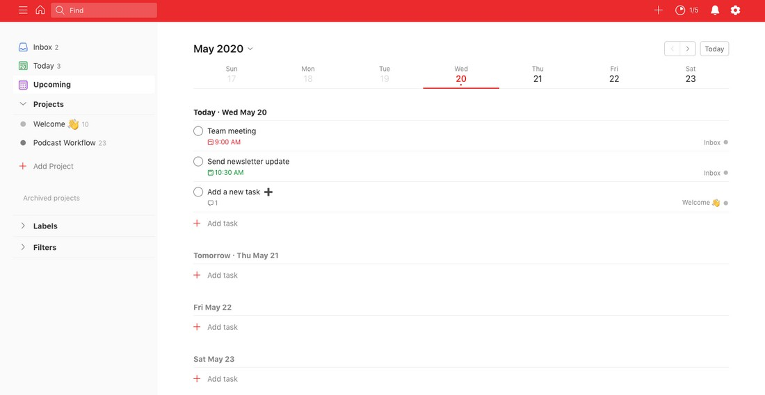 todoist-2 Best Project Management Software for Creatives 2020 design tips