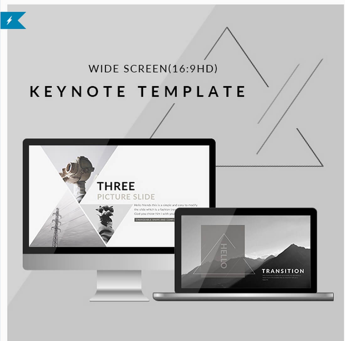 triangle 30+ Best Keynote Templates of 2018 design tips