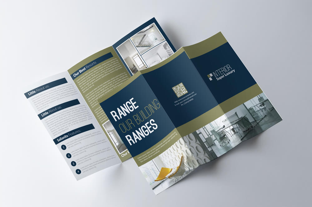 Modern Corporate Brochure Templates Design Shack - Trifold brochure template psd