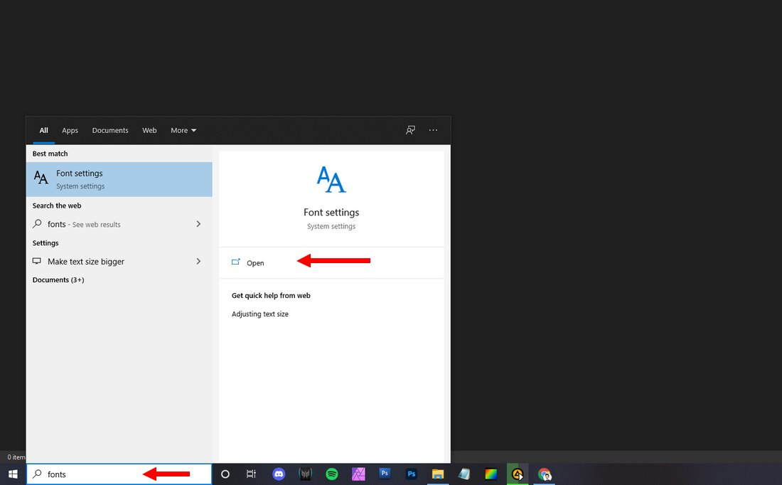 uninstall fonts in widnows 1