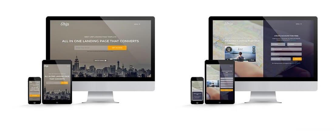 urip 30+ Clean & Minimal Landing Page Templates design tips