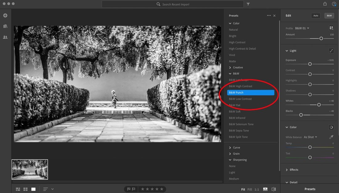 how to save a preset in lightroom