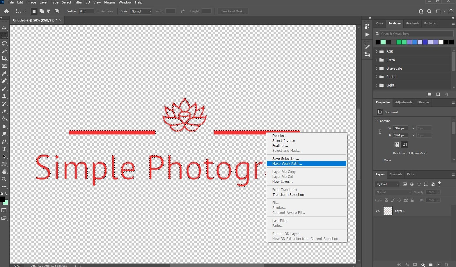 vectorize image in photoshop - 2