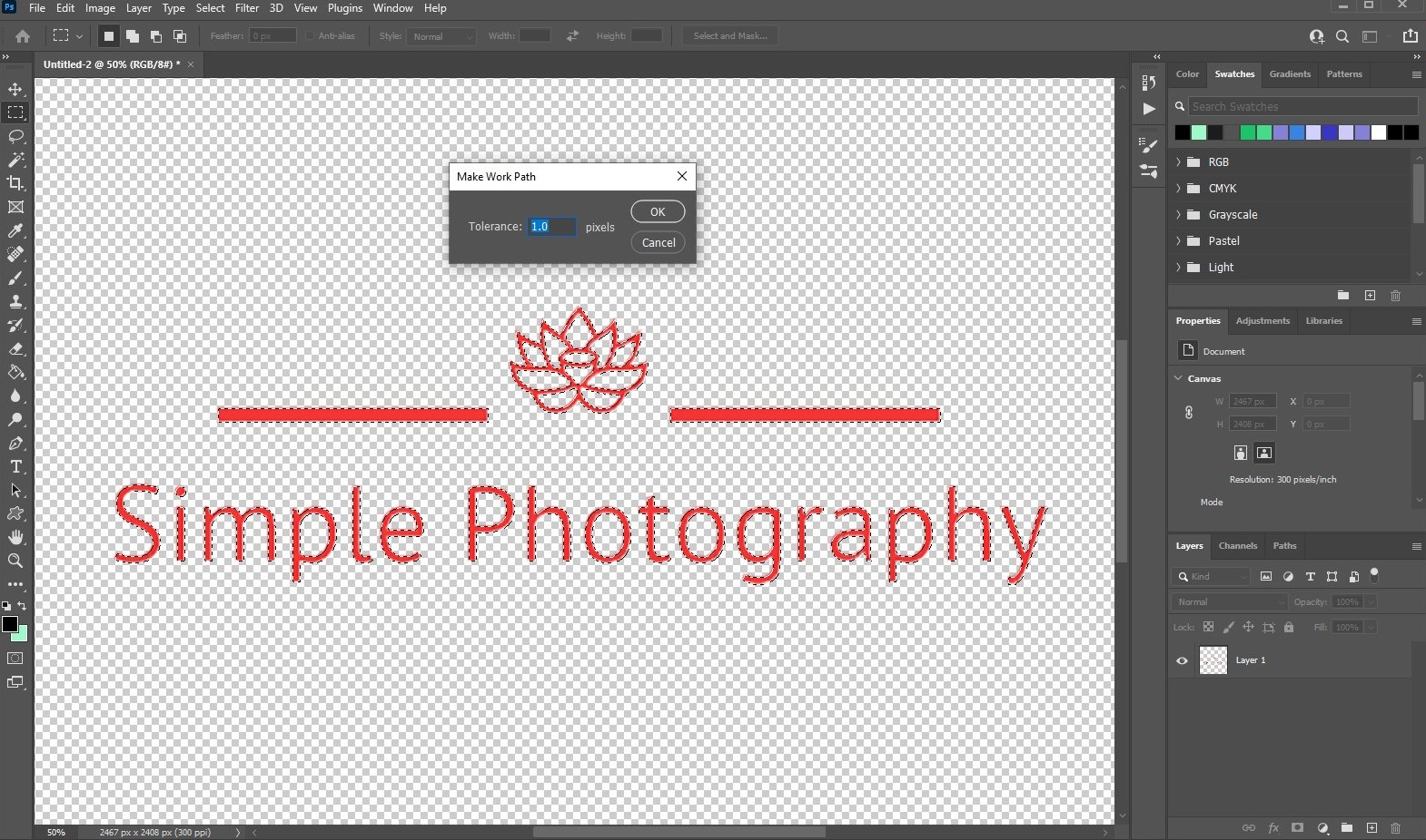 vectorize image in photoshop - 3