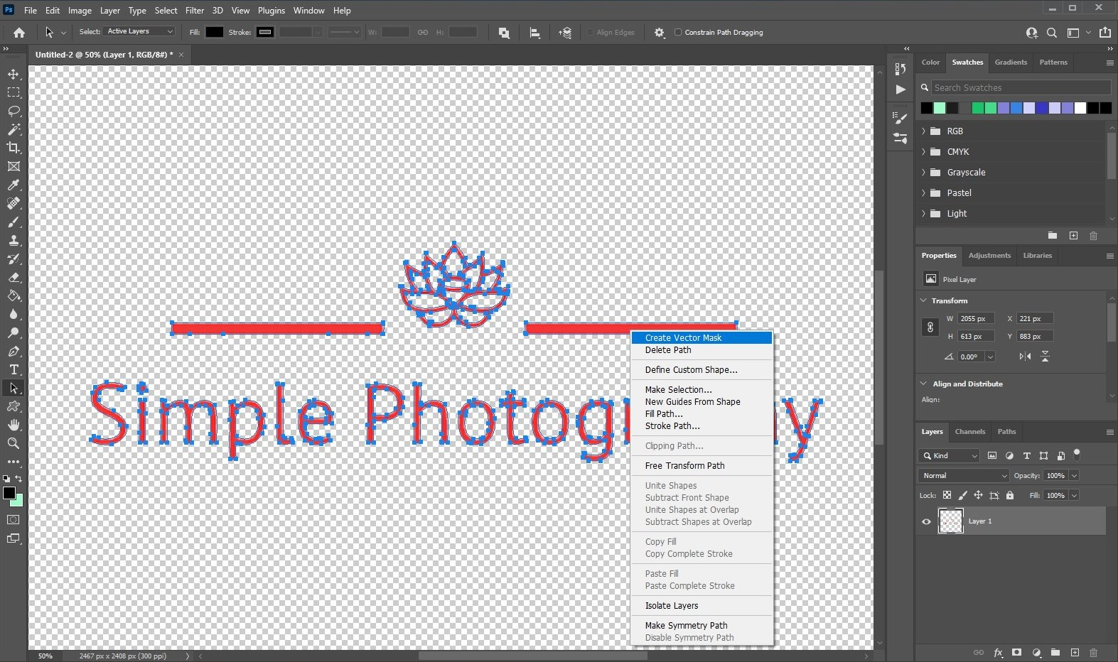vectorize image in photoshop - 4