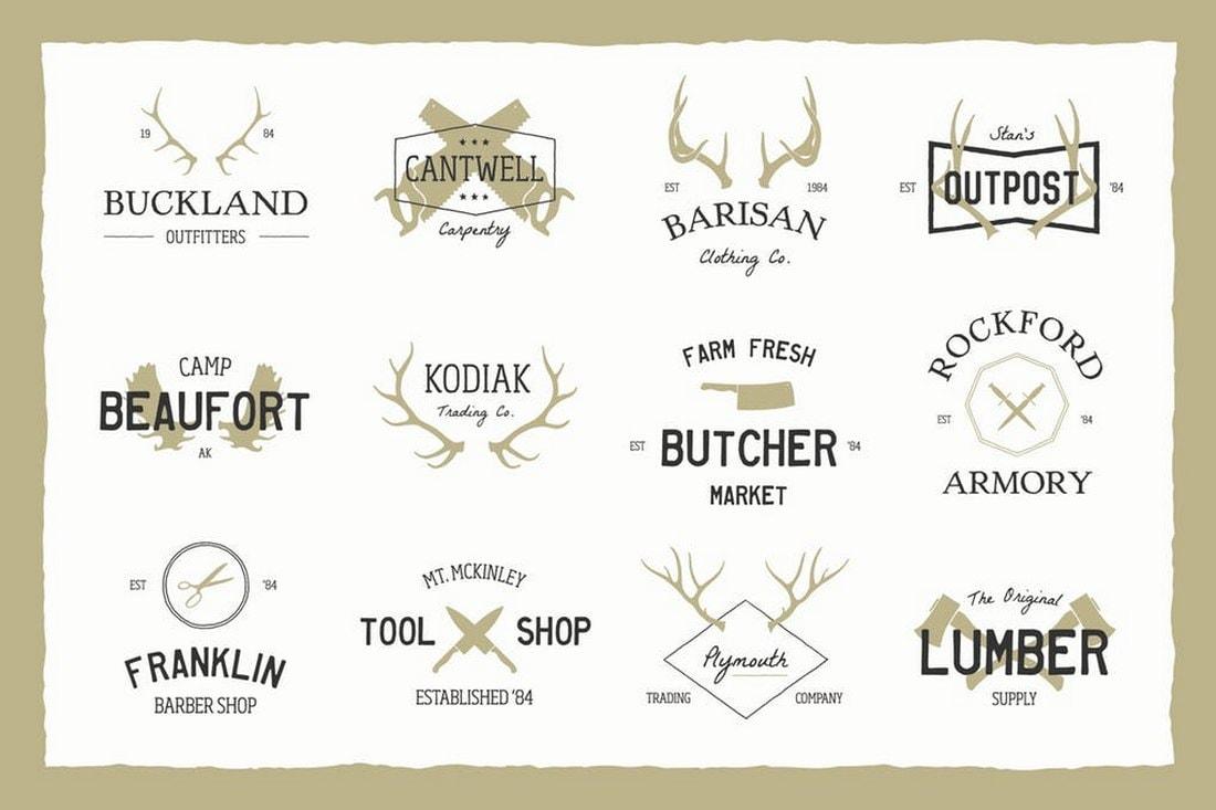 vintage-logo-bundle 20+ Best Free Logo Templates design tips