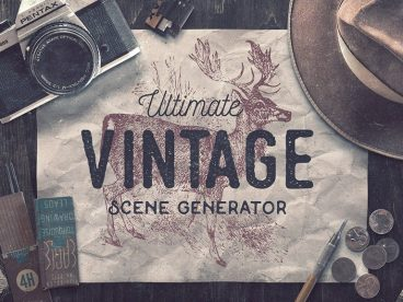 40+ Stunning Vintage Mockup Packs & Graphics