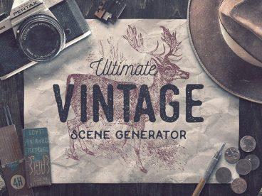 40+ Stunning Vintage Mockup Packs & Graphics