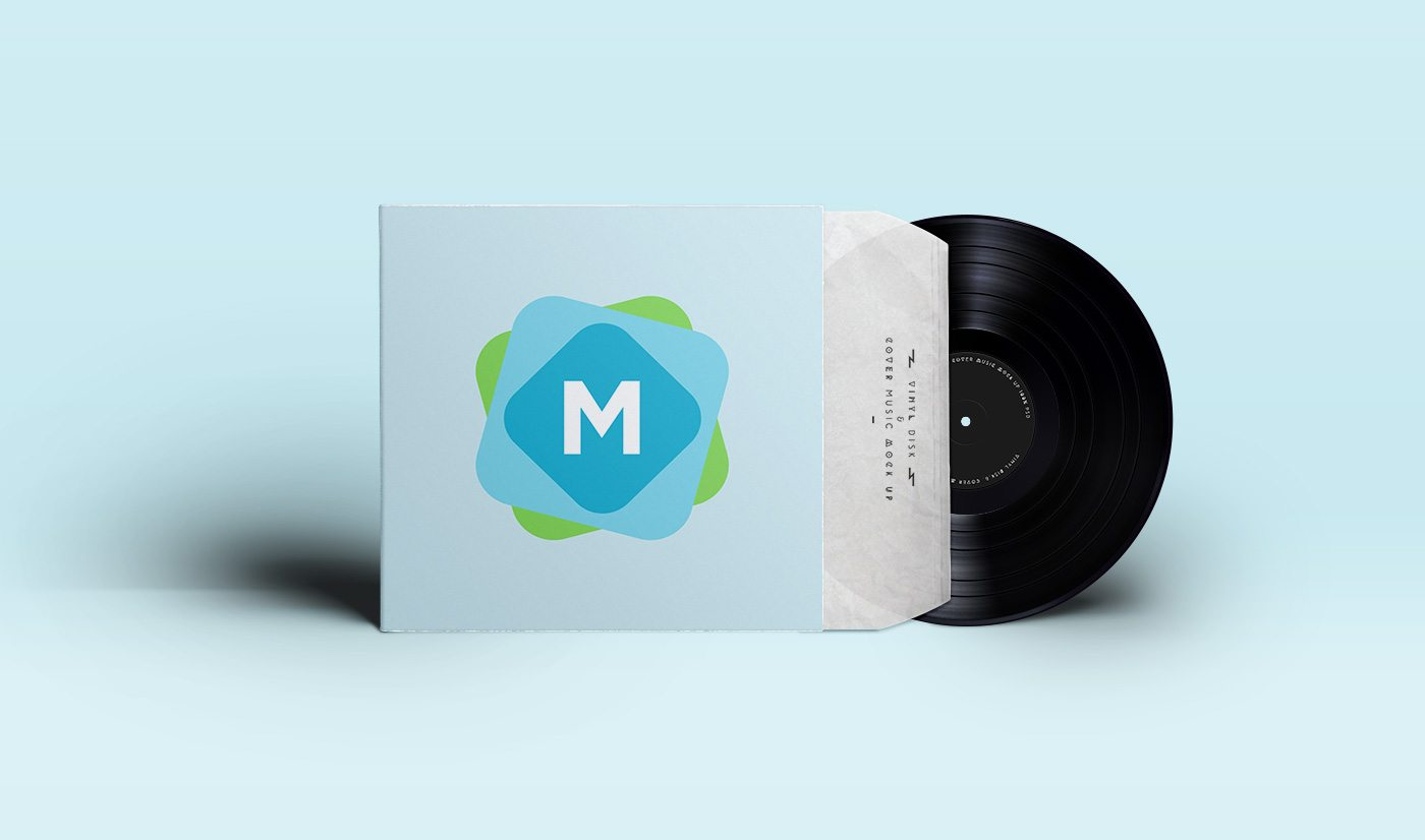 An elegant vinyl cover design that also comes with a disk for showing off your vinyl sticker designs as well as the cover you can download this mockup