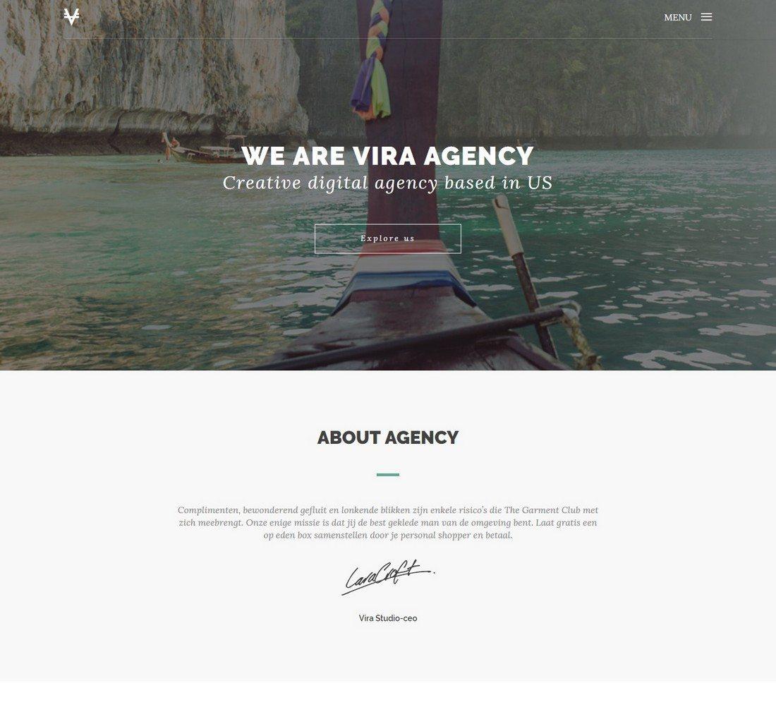 20+ Minimal Bootstrap Templates | Web Design | Online