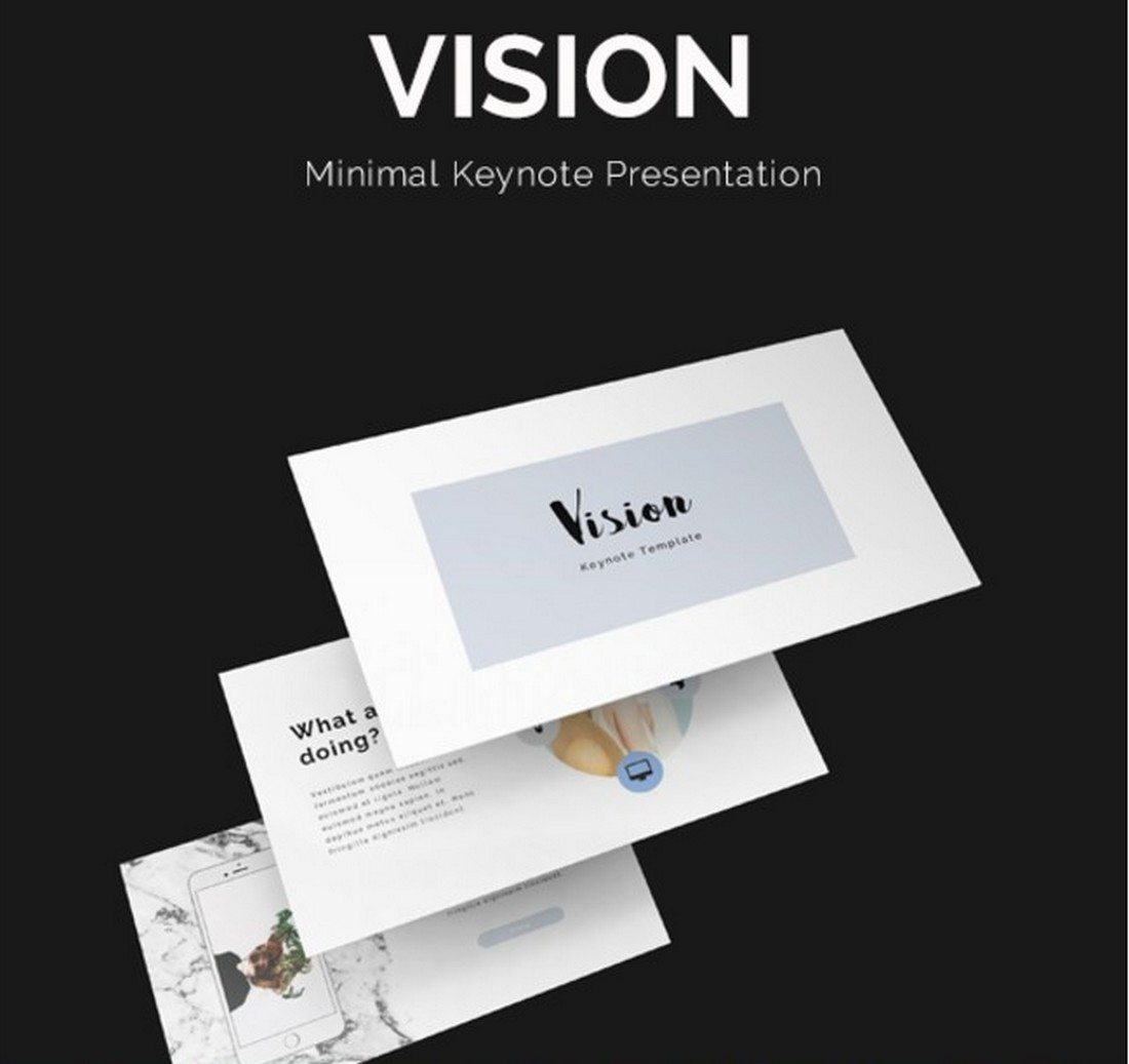 vision-1 30+ Best Keynote Templates of 2018 design tips