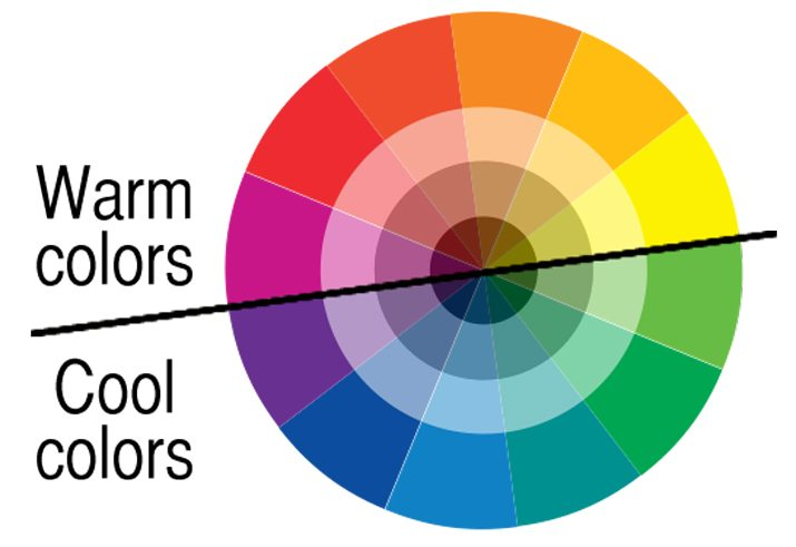 Warm colors occupy one half of the color wheel and are the hues that are  reminiscent of the sun or fire. Reds, oranges, yellows and pinks are warm  colors.