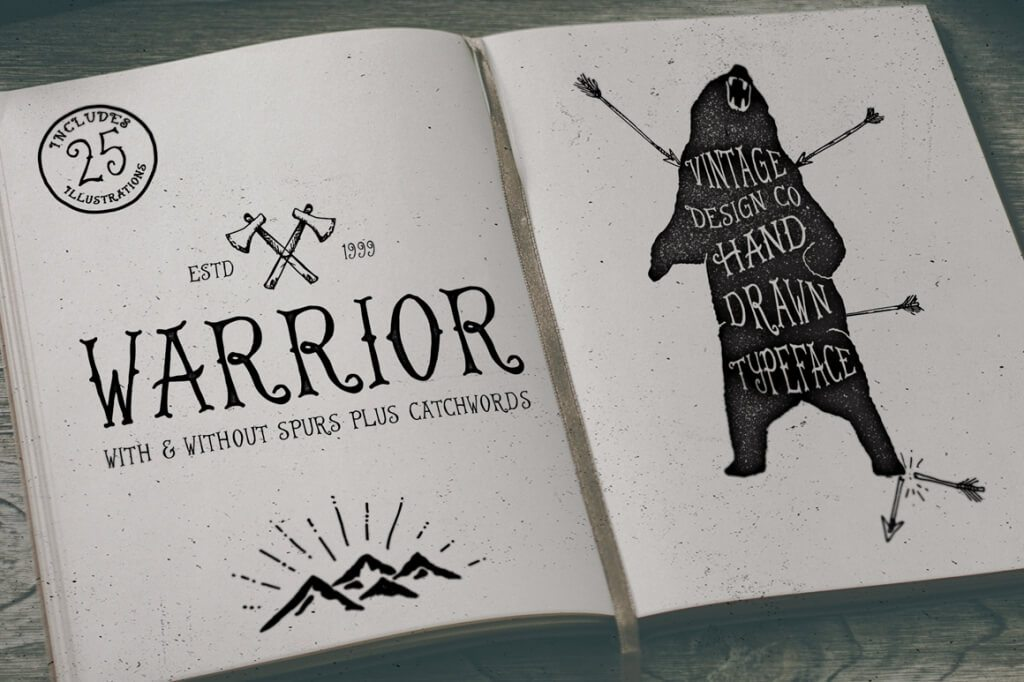 warrior-typeface-hand-lettered-o