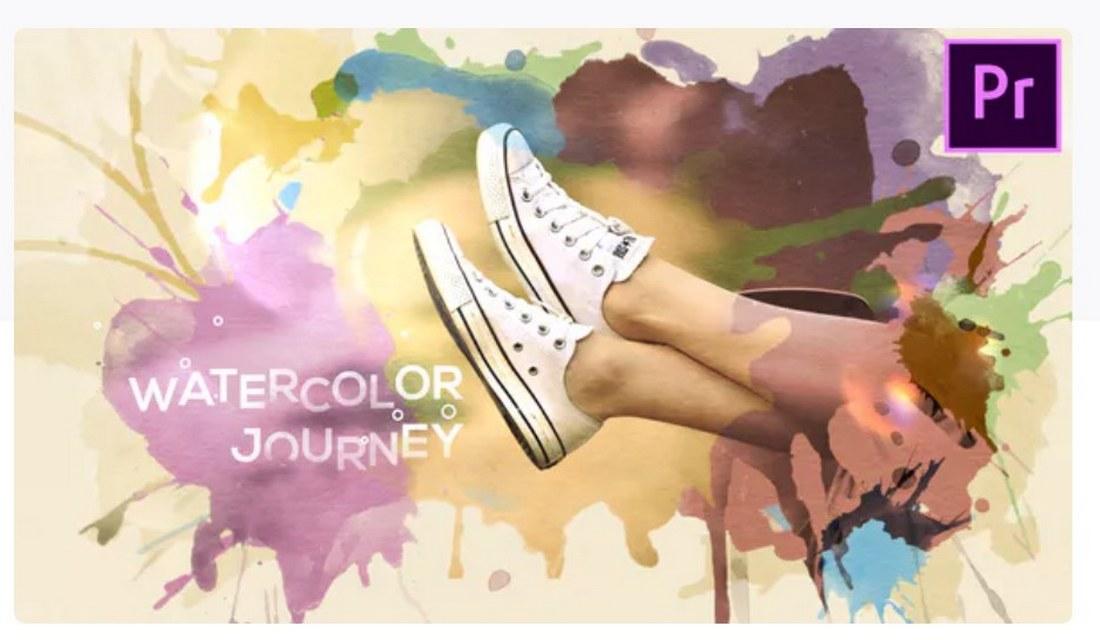 watercolor-journey-premiere-pro-template 30+ Best Premiere Pro Templates 2019 design tips
