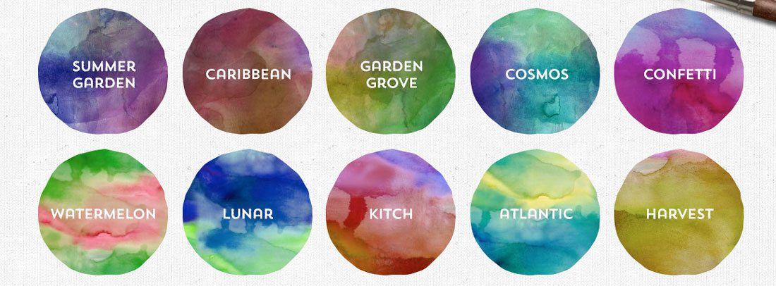 watercolor-resources Design Trend: Using Watercolor Patterns in Web Design design tips