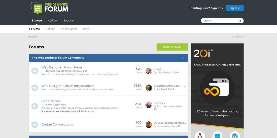 web designer forum