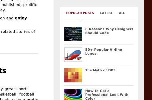 Webdesigner Depot home sidebar widget
