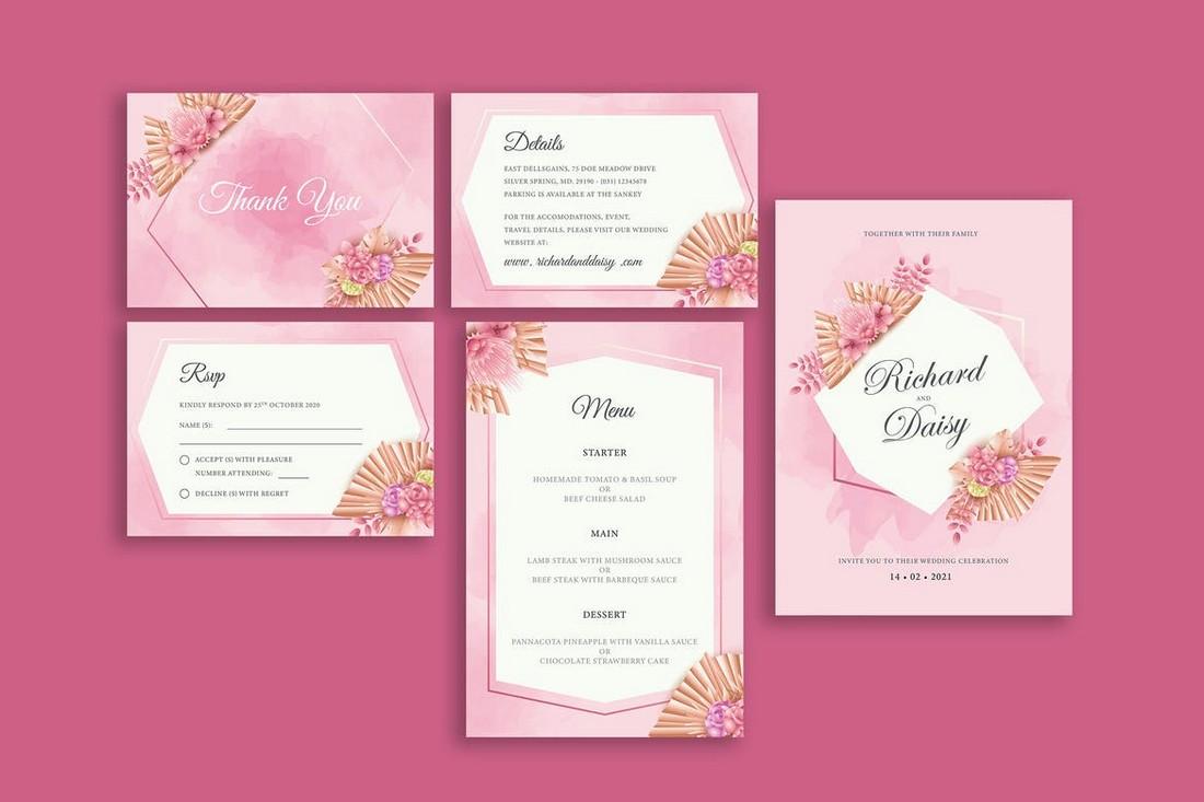 wedding color scheme Pastel Pink 1