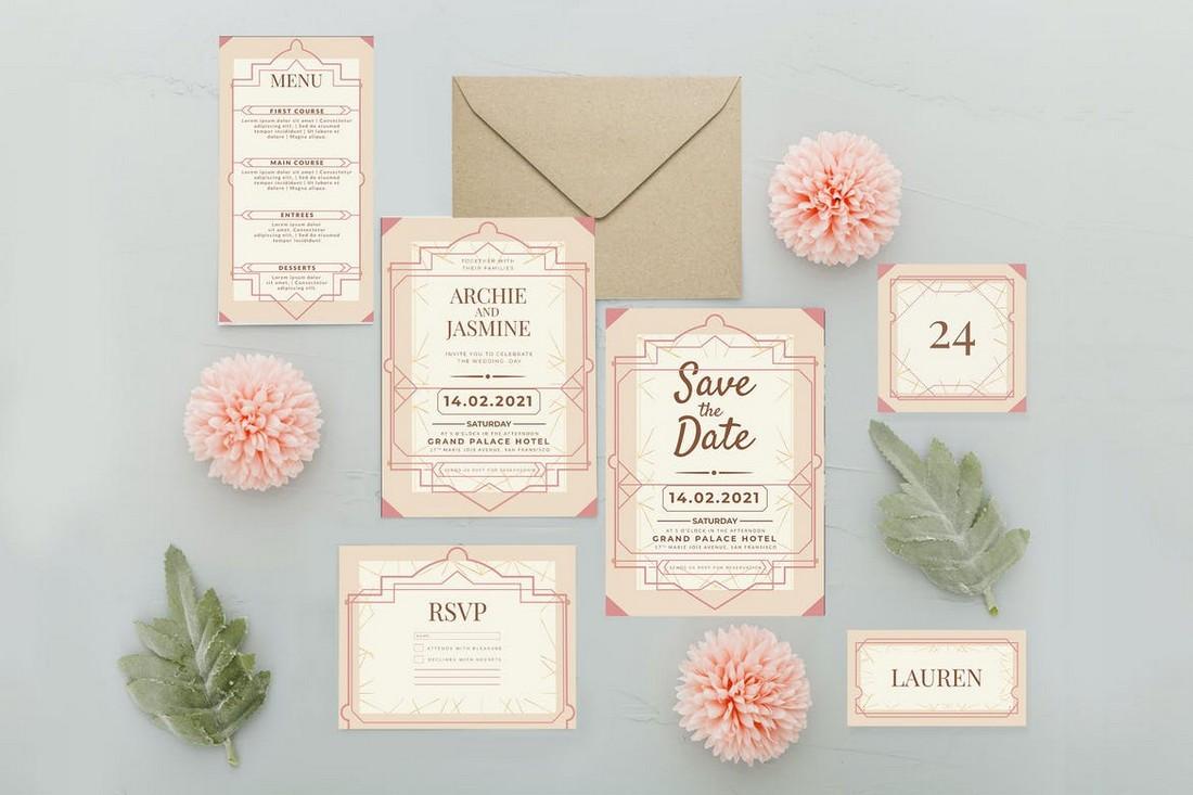 wedding color scheme Pastel Pink 2