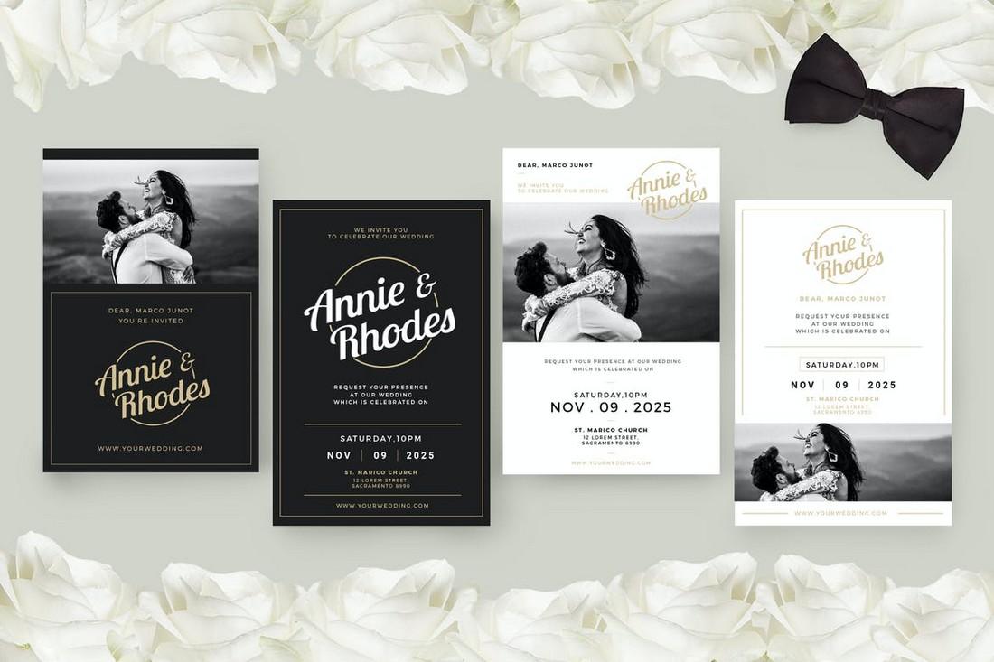 wedding color scheme black and white 1