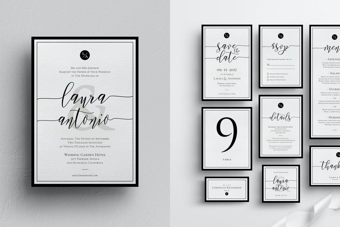 wedding color scheme black and white 2