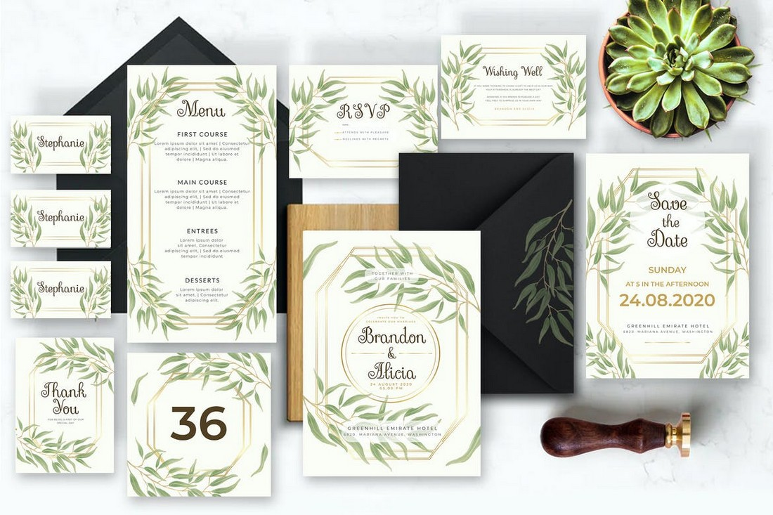 wedding color scheme floral greenery 1