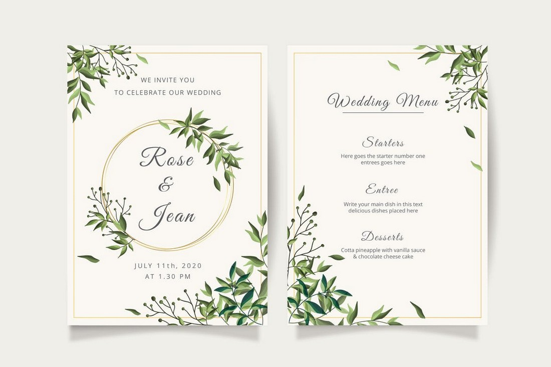 wedding color scheme floral greenery 2