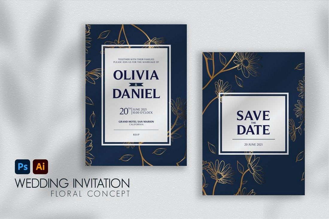 wedding color scheme naval blue 2