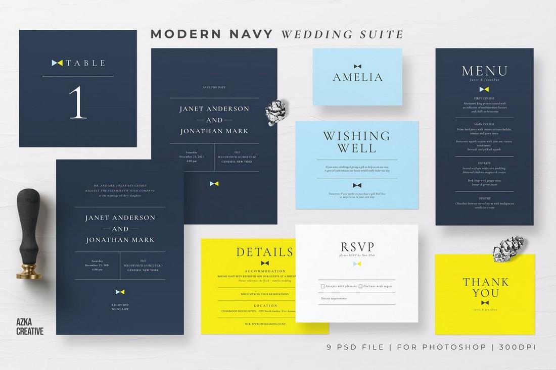 wedding color scheme navy blue 1