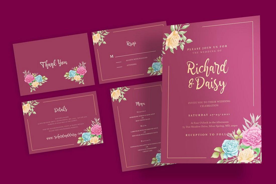 wedding color scheme rose gold 1